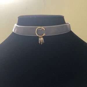 RM Velvet choker necklace